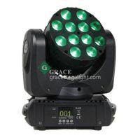 格蕾斯供应 科瑞12颗12W四合一LED摇头光束灯 酒吧ktv染色灯具舞台灯光