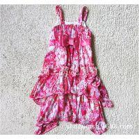 出口欧美原单雪仿蛋糕裙花朵女童连衣裙 童裙 童装连衣裙