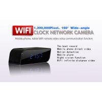 GLU 一体化摄像机 新款韩版IP网络监控机 无线WIFI电子钟款监控摄像机