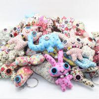 Y16手工布艺 韩版创意玩具 百款手机挂件纽扣娃娃批发 大号