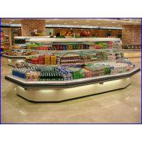 八角环形风幕柜定做价格 潮州低温奶饮料冷藏柜 立式风冷水果保鲜柜