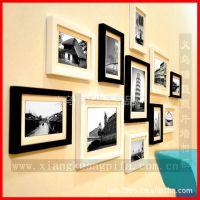 供应定制照片墙5寸相框 创意相框墙加厚像框小额批发 义乌装饰框厂家
