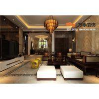 泰安鲁商中心179平新中式风格装修设计案例-万泰装饰公司