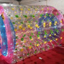 供应水上游艺设施水上PVC材料炫彩滚筒