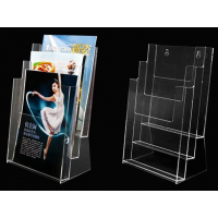 定做各种有机玻璃资料盒 亚克力便签盒 资料架 亚克力加工