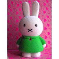 兔子玩具公仔储蓄存钱罐植绒毛加工