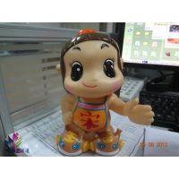 企业员工塑胶玩具 可作办公室摆件玩偶 卡通塑胶公仔专业生产厂家