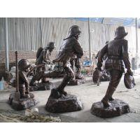 消防人物雕塑 园林雕塑玻璃钢消防人摆件