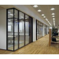 供应铝合金成品隔断 办公铝型材 玻璃高隔间 隔断配件 隔断型材