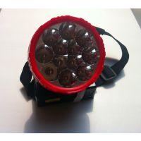 供应12个LED充电头灯、矿工用灯、修车灯、户外强光远射钓鱼灯