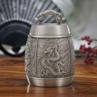 【高端礼品茶叶罐定做】龙腾盛世纯锡茶叶罐 纯锡商务礼品批发