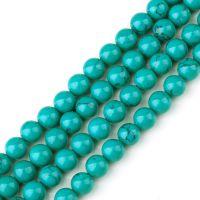 DIY手工配件批发 合成 绿松石散珠 圆珠批发  绿松石半成品