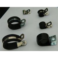 福莱通电动车用金属线夹 带胶条线缆紧固夹 橡胶减震R型喉箍
