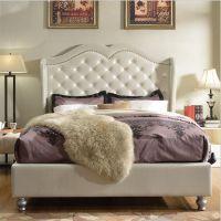 云康小屋 现代简约欧式皮艺酒店卧室小户型单人双人床样板房软包床定制家具