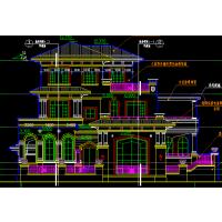 [扬州]某国际花园三层双拼别墅施工图(23号楼)