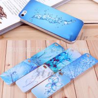 IMD蓝水花镶钻保护壳 苹果iphone5/4/4S手机外壳 清凉夏日保护套