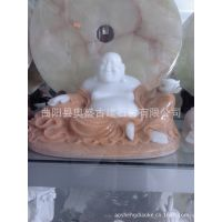 曲阳石雕工艺品大理石雕刻汉白玉佛像弥勒佛汉白玉工艺品FX--011