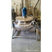 电加热可倾搅拌夹层锅 不锈钢餐饮自动食品加工设备