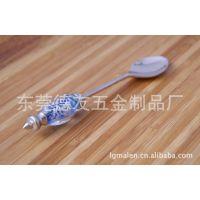 锌合金萨拉勺,锌合金玻璃珠萨拉勺餐具套装