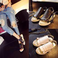 爆款2015夏季新款真皮凉鞋舒适平底女凉鞋超柔软罗马女凉鞋学生鞋