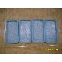 现成模具生产葱粉硅胶手机套 iphone4S波浪纹手机套 5S手机壳
