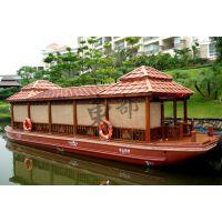 长度12米餐饮画舫船 房子一样的船装修豪华的船