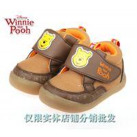 供应冬款迪士尼小熊维尼A2582宝宝鞋婴儿鞋防滑保暖男女童鞋批发童靴