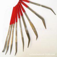 【锐道】普通型什锦锉异形锉 弯头锉刀套装 电镀金刚石