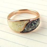 欧美时尚 戒指撞色 滴油碎贝戒指 指环饰品批发 速卖通货源