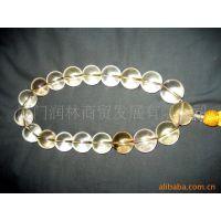 供应天然水晶佛珠手链(进口水晶) 水晶手链 天然水晶 水晶批发