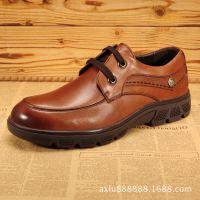 厂家直销秋冬新款男士日常休闲鞋正品真皮男鞋英伦低帮鞋潮鞋子