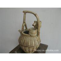 特色流水提壶 陶瓷手工工艺品 中式风水轮流水喷泉摆饰 开业礼品