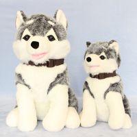 毛绒玩具公司 Q版哈士奇 毛绒狗狗 迪士尼玩具狗公仔仿真哈士奇