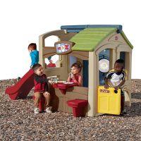 美国原装进口step2 娱乐中心游戏屋 户外野餐小屋儿童滑梯玩具屋