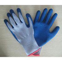 涤棉纱线浸乳胶皱纹手套平挂半挂劳保工作手套
