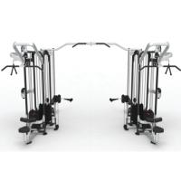 供应奥圣嘉八人站训练器ASJ-E826健身房专用大型多功能建身器械不锈钢管材