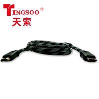 厂家直销TINGSOO/天索hdmi 2019A 2.0版连接数据线编织网电脑电视高清线
