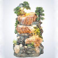 家居欧式流水喷泉工艺品客厅大型创意型假山加湿器落地风水轮