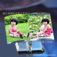 人造水晶礼品 水晶影像礼品摆件 个性照片彩印定制 浦江婧妃水晶