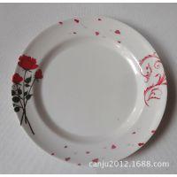 密胺餐具 仿瓷密胺盘 家用餐厅加厚9寸餐盘平盘圆盘  日用特批