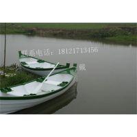 欧式休闲船手划小木船江苏上海公园景区观光旅游客船