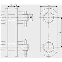 供应鸿煜牌连接金具平行挂板PS-7 P型挂板