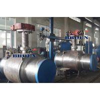 上海波昂齿轮执行机构大口径固定式焊接球阀