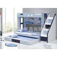 供应梦航厂家直销子母床儿童床上下铺高低双层床学生实木儿童双层床