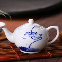 福容正品 青花瓷茶壶 白色景德镇陶瓷茶壶 功夫茶具 釉下彩骨瓷壶