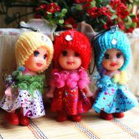 韩版可爱赠品8cm迷糊娃娃包包挂件手机挂件小孩玩偶女孩玩具礼品
