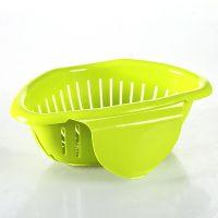 厨房可挂式水槽收纳滤水篮 炫彩蔬菜水果沥水器 创意果蔬筛滴水娄