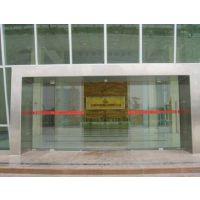 广州安装酒店自动感应平移玻璃门,维修电话18027235186