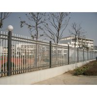 【静电喷涂钢管围墙栏杆】喷塑锌钢围栏围墙/拼装式
