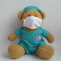 宏源定做毛绒玩具公益事业医生护士泰迪熊 穿衣熊护士熊公仔